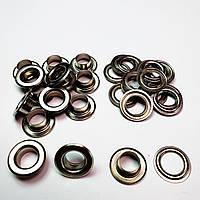 Люверсы для тента 10мм (№24) Серебристый никель, Турция (100шт)