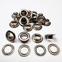 Люверсы для одежды 10мм (№24) Серебристый никель, Турция (250шт)