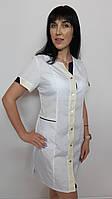 Медичний жіночий халат Сану бавовна короткий рукав, фото 1