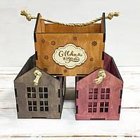 Коробка для подарков Домик 200х135х170мм
