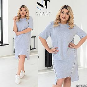Платье летнее короткое в спортивном стиле Больших размеров