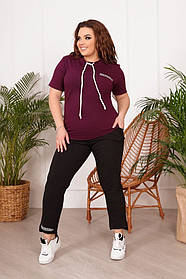 Костюм женский летний большого размера, Летние легкие костюмы женские больших размеров