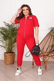 Летние спортивный костюм женский Больших размеров