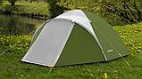 Походная палатка двухлойная для отдыха на природе 3-х месная Presto Acamper ACCO 3 PRO зеленая - 3000мм, фото 4