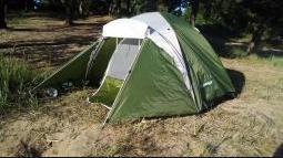 Походная палатка двухлойная для отдыха на природе 3-х месная Presto Acamper ACCO 3 PRO зеленая - 3000мм