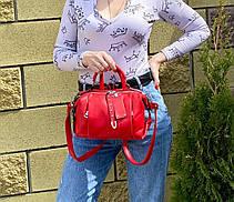 Сумка Joy на 2 відділення червона ДЖОЙ4, фото 2