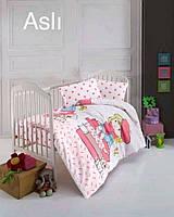 """Постель в детскую кроватку (для новорожденных) ранфорс """"Asli"""" Altinbasak Турция"""