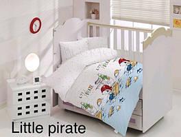 """Постель в детскую кроватку (для новорожденных) ранфорс """"Little Pirate"""" Altinbasak Турция"""