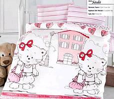 """Постель в детскую кроватку (для новорожденных) ранфорс """"Suslu"""" Altinbasak Турция"""