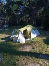 Походная двухслойная палатка 3-х местная для отдыха на природе Presto MONSUN 3 зеленая - 3500мм