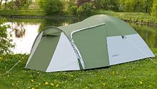 Походная туристическая палатка 4-х местная для отдыха и туризма Presto Acamper MONSUN 4 PRO зеленая - 3500мм