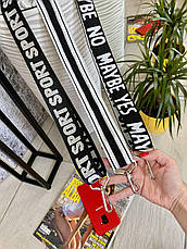 Ремінець широкий текстильний 40 мм для жіночої сумки Смужки РПОЛ, фото 2