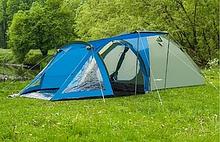 Походная туристическая палатка 4-х местная для отдыха и туризма Presto Acamper SOLITER 4 PRO серо-синий 3500мм