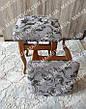 Чохли на табуретки комплект 4 шт на гумці (сидіння на табурет, стілець) №48, фото 4