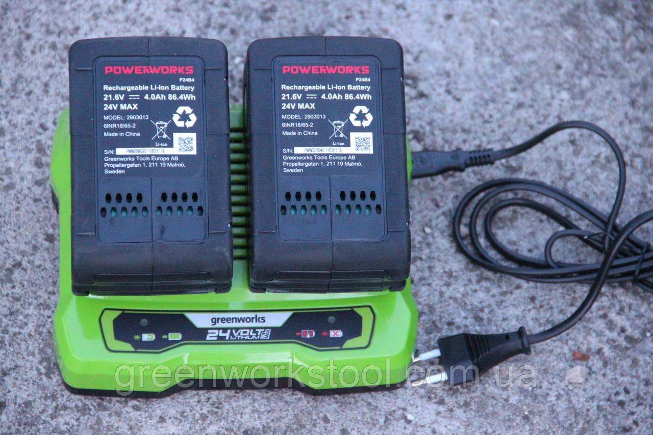 Аккумулятор PowerWorks P24B4 24 V  / GreenWorks G24B4 24 V 4 А ч
