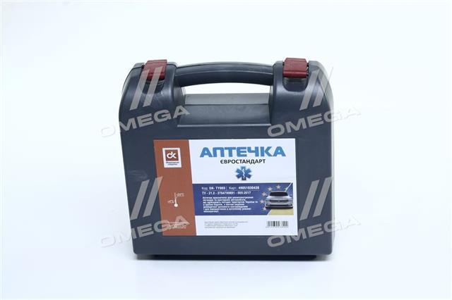 Аптечка сертифицированная автомобильная евростандарт (Дорожная Карта)  DK- TY003