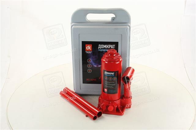 Домкрат бутылочный, 4т пластик, красный H=185/350 (Дорожная Карта)  JNS-04PVC