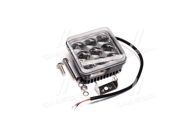 Фара LED квадратна 27W, 9 ламп, 6D