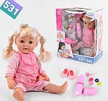 Старша сестра Warm Baby лялька пупс з волоссям Lovely Sister, фото 6