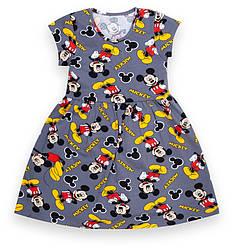 Детское платье для девочки с коротким рукавом с набивным принтом, GABBI (размер р.104)