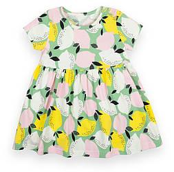 Детское платье с коротким рукавом, с кнопками на плече, Моя принцесса, PL-21-5, GABBI (размер р.104)