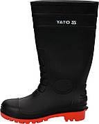 Чоботи ПВХ водонепроникні, хімічно стійкі, антистатичні з металевим носком YATO, 38 см, розмір