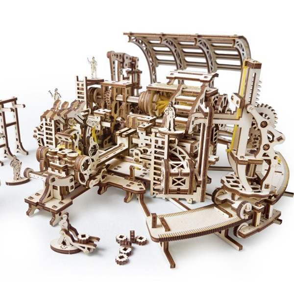Механічні 3D пазли UGEARS - «Фабрика роботів»