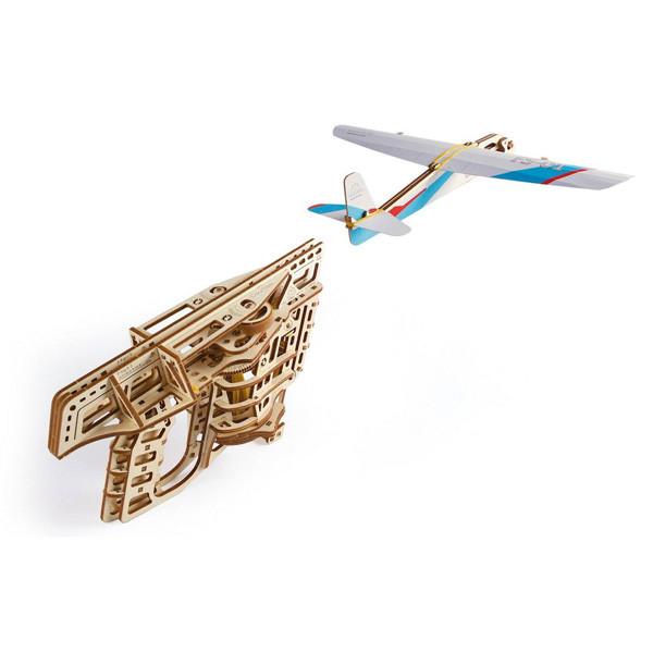 Механические 3D пазлы UGEARS - «Пускатель самолетиков»