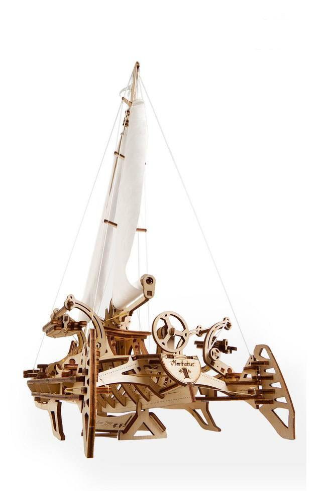 Механічні 3D пазли UGEARS - «Тримаран Мерихобус»