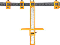 Шаблон для розмічання отворів VOREL з радіусом 200 мм; метрична і дюймова шкали