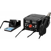 Паяльна станція + фен мережеві YATO; Р= 75Вт, t°= 200-480°С, жало 900М, фен t°= 100-480°С 750В