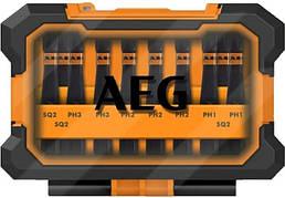 """Набір отверточних ударних насадок AEG 50 мм HEX - 1/4"""" 10 шт + футляр"""