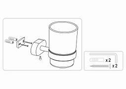 Стакан для зубних щіток настінний FALA кріплення дюбель/шуруп
