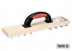 Терка для зняття штукатурки дерев'яна YATO 405 х 84 мм пластикова ручка