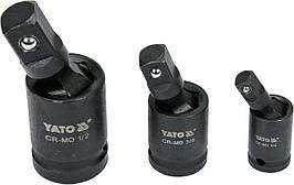 """Кардани ударні YATO 1/2 """"3/8"""" 1/4 """"3 шт."""