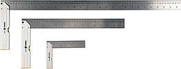 Куточки з рівнем VOREL 150/400/700 мм, метрична і дюймова шкали, алюміній + сталь, 3 шт.