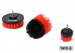 """Щітки з нейлоновим ворсом для дрилі YATO HEX - 1/4"""" 3 шт"""
