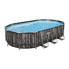 Bestway Надувний басейн Bestway Wood Style 5611R (610х366х122 см) з картриджних фільтрів, сходами і тентом