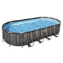Bestway Надувний басейн Bestway Wood Style 5611T (732х366х122 см) з картриджних фільтрів, сходами і тентом