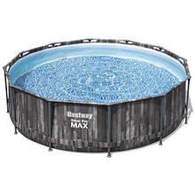 Bestway Надувний басейн Bestway Wood Style 5614Z (427х107 см) з картриджних фільтрів, тентом і сходами