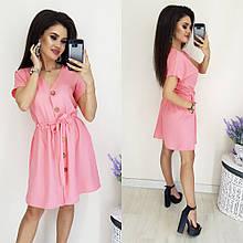 Женское платье, коттон, р-р 46-48 (розовый)