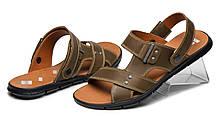 Deni! Мужские коричневые сандалии, босоножки из натуральной кожи, сандали классические