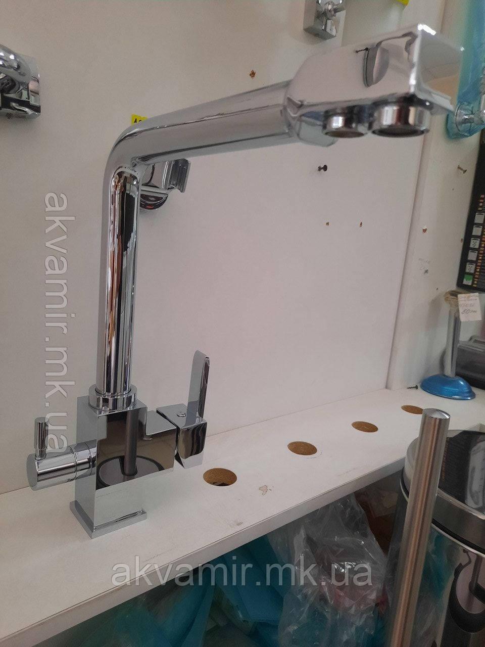 Смеситель для кухни Fabiano FKM 31 Chrome (хром) с подключением к фильтру