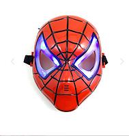 Детская маска Человека паука светящаяся красная
