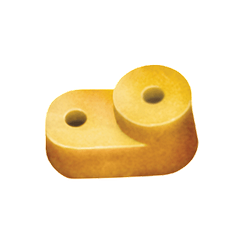 """Изолятор угловой для """"О"""" шины желтый IEK"""