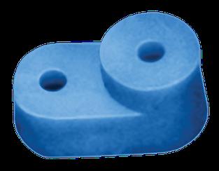 """Изолятор угловой для """"О"""" шины синий IEK"""