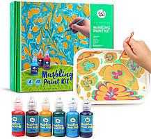 Jar Melo Набор для рисования на воде Marbling Kit. Набор для марморирования