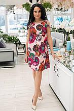 Женское платье, софт, р-р 44 (белый)