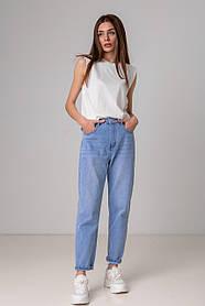 Ультра модные голубые джинсы mom-fit c завышенной посадкой в размерах: S, M, L, XL