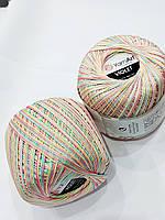 Пряжа нитки для вязания хлопковые  Виолет Ярнарт Violet YarnArt 100% меланж  № 502